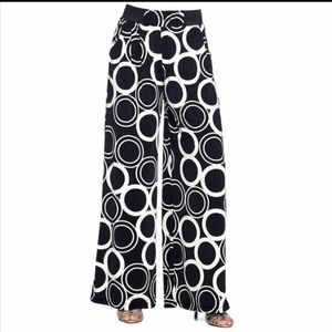 NEW Black and White Contemporary Palazzo Pants
